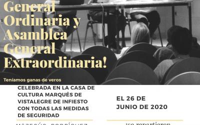 Asamblea General Ordinaria y Asamblea General Extraordinaria 2020